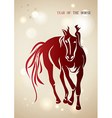 Red chinese new year of horse 2014 background vector