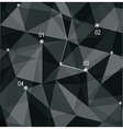 Abstract geometric 3d background vector