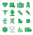 Medicine icons vecior3 green vector