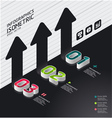 Isometric modern infographic graph vector