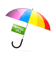 Colorful umbrella with spring sale title vector