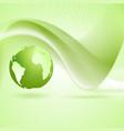 Tech wavy green background vector