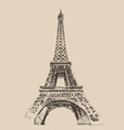 Eiffel tower paris france architecture vintage e vector