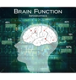 Human brain function on technology background vector