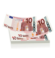 Flying euro bills the concept of success vector