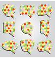 Speak bubbles colorful eps10 vector