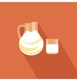 Milk icon vector