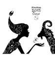 2015 year of the beautiful goat and zodiac sign vector