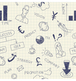 Business ink doodles on paper vector