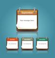 Calendar 2013 template notepad conceptual vector