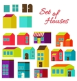 Set of houses vector