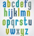 Colorful animated font comic lower case letters vector