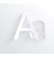 Letter a white paper symbol icon vector