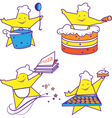 Party abstract cheerful chefs vector