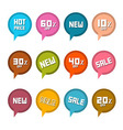 Stickers - labels set with new title vector