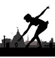Little ballerina silhouette vector