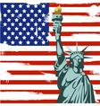 Grunge american background vector