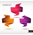 Abstract origami speech bubble backgrounds set vector