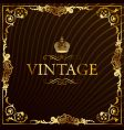 Vintage gold frame decorative background vector