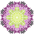 Ornamental round pattern with drops vector