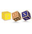 Word box written with alphabet blocks vector