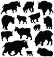 Goat silhouette animal clip art vector