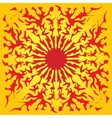 Red sun yellow background abstract pattern vector