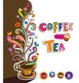 Coffee theme background vector