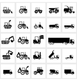 Icon set cars and tractors vector