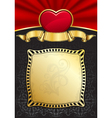 Valentines day background with heart and frame vector