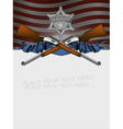 Sheriff star with guns and usa background vector
