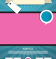 Blue and pink leaflet or poster retro template vector
