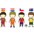 Fifa 2014 football players group b vector