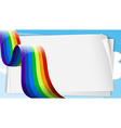 Empty bondpaper templates with a rainbow vector