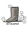 Felt boots sketch for your design vector