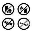 Do not icon vector