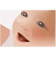 Portrait of baby vector