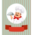 Cheerful smiling cook vector