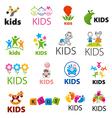 Biggest collection of logos children vector