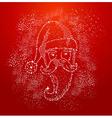 Christmas santa claus shape composition file vector
