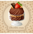 Chocolate cream badge vector