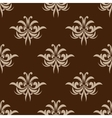 Brown seamless floral pattern in damask style vector