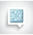 Abstract 3d design - speech bubble blue vector