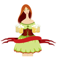 Oktoberfest girl beer vector