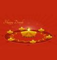 Diwali greeting card vector