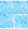 Seamless background ice cubes vector