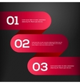 Bright 3d red banners set vector