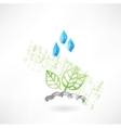 Leafs under the rain vector