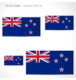 New zealand flag template vector