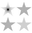 Pattern star set vector